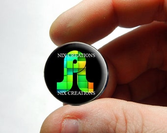 25mm 20mm 16mm 12mm 10mm or 8mm Glass Cabochon - BassNectar Pretty Lights - Design 14 - for Jewelry and Pendant Making
