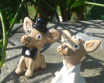 Chihuahua Wedding Cake Topper, Dog cake topper