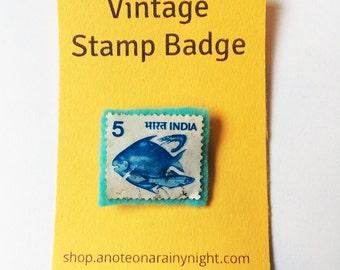 Vintage stamp badge- India