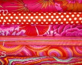 VERY BRIGHT! 6 Half Yard Bundle REDS, / Kaffe Fassett Fabric / Phillip Jacobs Fabric  Quilting Cotton, Quilt Craft and Apparrell fabric