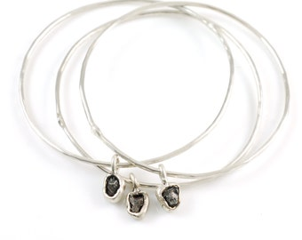 Meteorite Bangles - Set of 3 - Made to Order