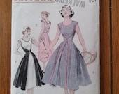 Vintage 1950s Pattern Dress Butterick 6015 Walk Away B34 2015374