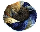Denim- Handpainted Yarn- Dye to Order, Sock, Fingering, Sport, Bulky