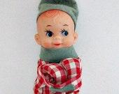 Knee Hugger Pixie Elf Ornament - Vintage Collectible Christmas Decor