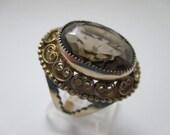 Gold Filled Adjustable Statement Cocktail Vintage Ring