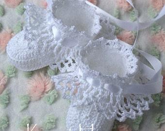 Crochet Pattern Pretty Ruffles Baby Booties