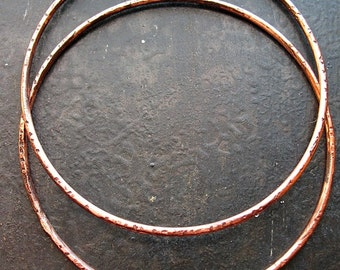 2.25 inch Chestnut Opal Copper Hoop Findings - 1 pair - Patina Artisan Earring Findings