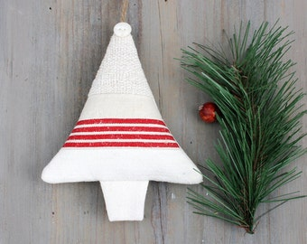 Christmas Tree Sachet, Vintage Linens, French Country