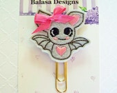 Halloween Bat Planner Clip, Bookmark, Planner Accessory, Paper Clip