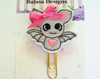 Halloween Bat Planner Clip, Bookmark, Planner Accessory, Paper Clip
