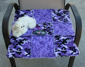 Cat Bed, Cat Blanket, Small Dog Blanket, Purple Camo Pet Bed, Pet Bed, Fabric Pet Bed, Colorado Catnip Bed, Cat Quilt, Beds for Pets