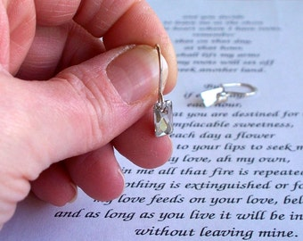 Silver Sparkle Earrings - Swarovski Crystal Flat Back Beads And Sterling Silver Earrings