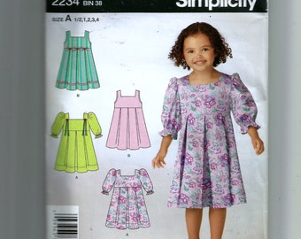 Simplicity Toddlers' Dress Pattern 2234
