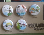 Portland Bridges Magnets