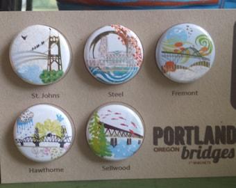 Portland Bridges Magnets