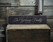 Family Name Decor, Est. Date Anniversary Date Sign, Wooden Wedding Decor, Rustic Established Date Sign, Custom Last Name Sign - ENS1001291