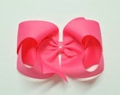 XXL Boutique Hair Bow - Over 100 Colors - 6.5 inches