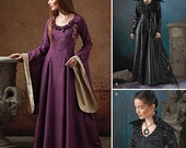 Simplicity 1137 Renaissance Sewing Pattern LOTR Medieval Queen, Flared Sleeves Dress, Womens Size R5 14-16-18-20-22
