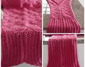 Mermaid Tail Blanket knit childs version custom made to order