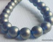 Czech Smooth Round 8mm  - Capri Sueded Gold -  Premium Czech Glass Druk Beads -  - 25 beads