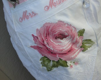 Aprons - Personalized Aprons - Does Not Include The Apron -  - Monogrammed -  Her Name On any Apron Pocket - Machine Embroidered Initial