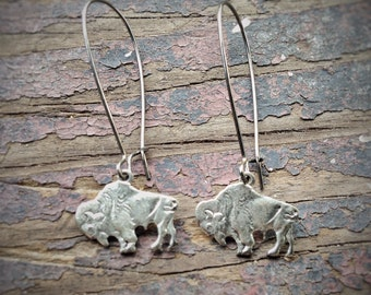 Buffalo Bison Earrings