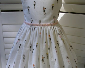 Size 3 Little Ballerina Dress With Embellished Belt