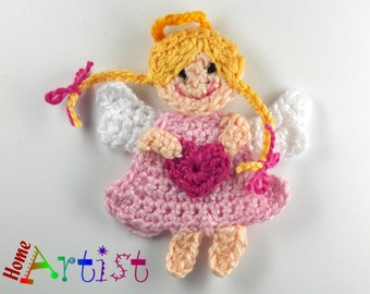 Crochet Applique Angel