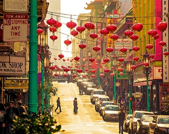 San Francisco Street Photography - Chinatown - Paper Lanterns - California, Travel, Urban, Cityscape
