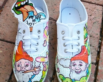 Womens Gnome Shoes by: My Art Is Indie