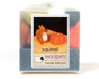 Squirrel Needle Felting Kit with Foam Pad