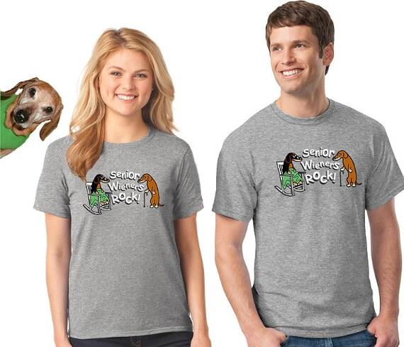 Dachshund T-Shirt Senior Wieners Rock