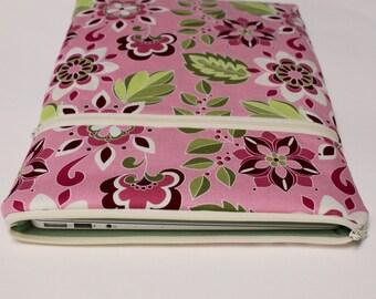 Women's iPad Pro case, iPad Air cover, iPad mini sleeve or iPad Case in Pink Garden Bouquet