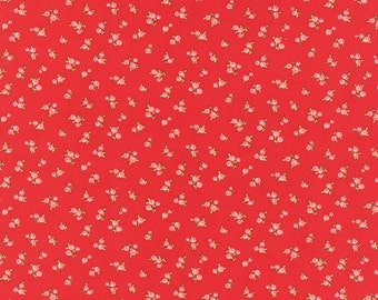 Little Ruby - Little Quirky in Red: sku 55131-11 cotton quilting fabric by Bonnie and Camille for Moda Fabrics - 1 yard