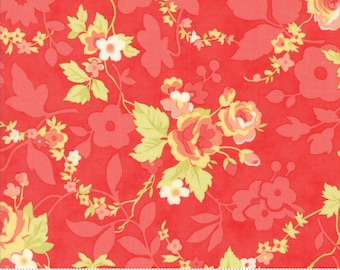 Chestnut Street - Chestnut Blooms in Pomegranate Red: sku 20270-11 cotton quilting fabric by Fig Tree and Co. for Moda Fabrics - 1 yard