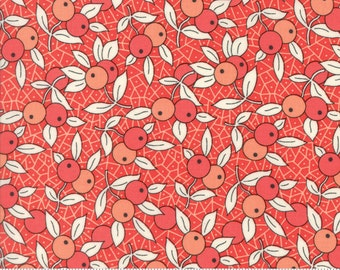 Chestnut Street - Berries in Pomegranate Red: sku 20273-11 cotton quilting fabric by Fig Tree and Co. for Moda Fabrics - 1 yard