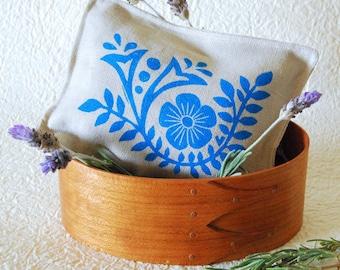 Organic Lavender Sachet -Blue Floral