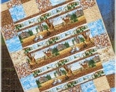 SALE Baby Boy Quilt Woodland Deer Big Bucks Rustic Country Woodland Nursery Bedding Crib Bedding Cabin Wall Quilt