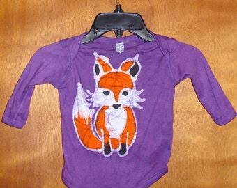 Kids Handmade Batik Woodland Fox Bodysuit