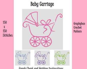 Baby Carriage - Graphghan Crochet Pattern