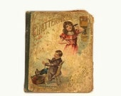 On HOLD Antique Chatterwell Stories Childrens Book, McLoughlin Bros NY, Vintage Victorian HC Illustrated Storybook, Cottage Chic