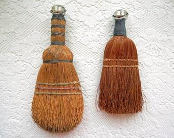 Two (2) Vintage Whisk Brooms Primitive Rustic Farmhouse Decor