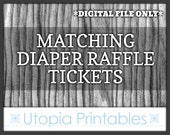 Matching Baby Shower Diaper Raffle Tickets