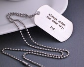 Under the Same Sky Personalized Custom Dog Tag Necklace, Men's Jewelry, Deployment Gift, Man's Necklace Dog Tags