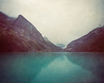 Mountain Photography, Mountain Print, Canada Rockies, Blue Wilderness Art, Wilderness Decor, Nature Photo, Moody Landscape