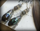 Ancient Greece Earthy Labradorite and Crystal Earrings