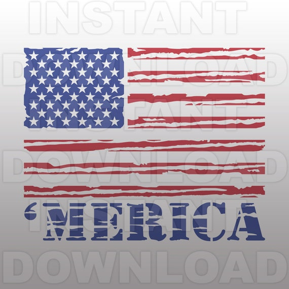 Merica Svg Fileamerican Flag Svgusa Flag Svg File Cutting