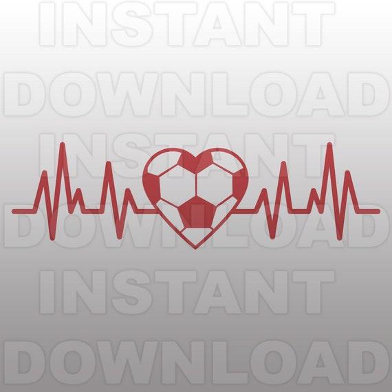 Soccer Ball Heartbeat Svg Filesoccer Ekg Svg Filecut