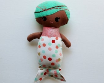 Baby Mermaid Doll, dark skin