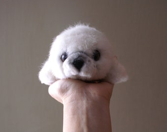 Vintage Baby Seal Plush, Yomiko Collection with Tags, Stuffed Animal Plushie by Russ